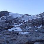 nei pressi del ghiacciaio