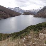 Il lago di Devero visto dall'alto