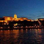 La collina della fortezza:Varhegy di notte