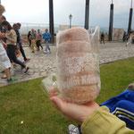 Ecco il tipico dolce di Budapest:il Kurtoskalacs o kurtos kalacs
