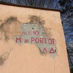 Indicazione della cima del Monte di Portofino
