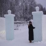 Ingresso albergo di ghiaccio