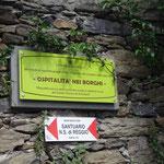 Il sentiero per il Santuario della Madonna di Reggio