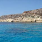 La costa dalla barca