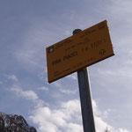 Cartello dell'Alpe Piasci
