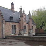 Brugge -  Il Wijngaard (casa del guardiano) sul Minne Water