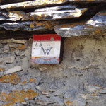 Segnaletica del sentiero Walser