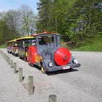 Namur - Il treno turistico all'interno della Cittadelle