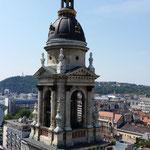 """Vista di """"Pest"""" dalla torre della Basilica di Santo Stefano"""