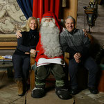 Foto con Santa Claus (dicembre 2010)