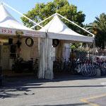 Parecchi punti di noleggio bici sulla ciclabile