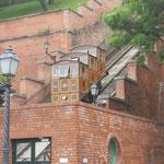 La funicolare di accesso alla collina della fortezza