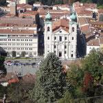 Vista dal Castello su Piazza della Libertà