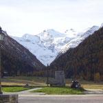 Il Gran Paradiso, il ghiacciaio, visto da Cogne