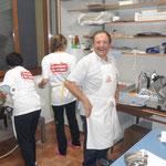Antonio, Norina e Milena in cucina