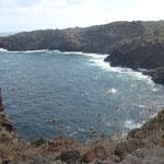 Vista del mare dai sentieri