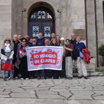 Kruje: foto davanti al Museo Skenderbeg