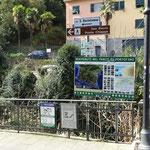 Camogli: inizio dei sentieri del Parco