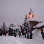 La casa di Babbo Natale ed il circolo polare artico