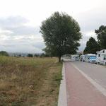 001_Baiona_sosta con il camper sulla Playa de Ladeira