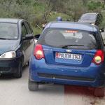 Berat: la polizia ci scorta nella discesa