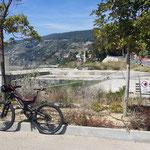 Inizio pista ciclabile ad Ospedaletti