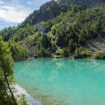 Questo è il Lago Lagzzuoo in estate