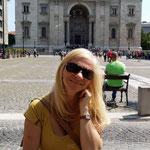 Rita sulla torre della Basilica di Santo Stefano