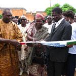 Eröffnung: Bürgermeister K. Barro & Mamadou
