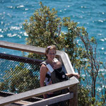 Mother and son at Byron Bay, New South Wales, Australia