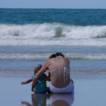 Beautiful - mother and son at Byron Bay, New South Wales, Australia