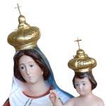 statua Madonna delle Grazie cm 65 - volto