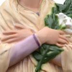 statua Santa Maria Goretti cm 43 - mani