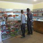 On fait le plein pour les prochains jours. Pas beaucoup de choix au Kirghizistan : vodka, bonbons ou chocolat?