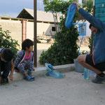 Ravitaillement en eau en prévision du bivouac