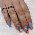 Ombre mit Stamping