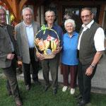 Ehrenmitglied Anton Kopp zum 90. GT und Eiserne Hochzeit mit Gattin Sefi