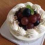 巨峰のケーキ