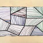 MS & GS : travail sur les lignes verticales, horizontales et obliques, à la manière de Sol Lewitt
