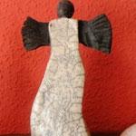 Raku-Engel ca 24 cm