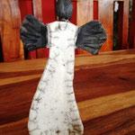Raku-Engel, ca 18 cm