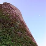 Muraille : angle de la poterne