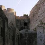 Le système défensif de la poterne dans le bastion nord ouest.