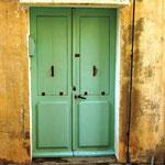 Une autre porte bleu-vert