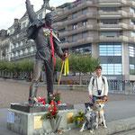 Statue von Freddie Mercury in Montreux am Genfer See