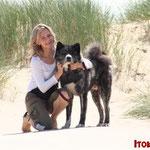 """Erika und Unshou in Calais     Elloitt und Judith von den """"Activ Dogs"""""""