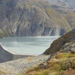 Stausee Lac des Dix am südlichen Ende des Val d'Hérémence