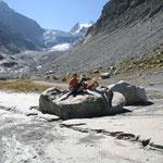 unterwegs zum Mont-Miné-Gletscher - das Ziel in Sicht
