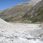 auf dem Rückweg vom Mont-Miné-Gletscher am südlichen Ende des Val d'Hérens