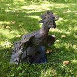 Gallo cedrone, 2012, bronzo, h. 33 cm